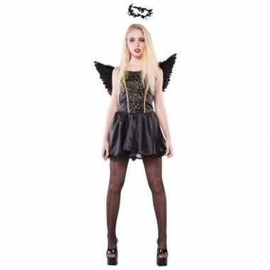 Carnaval zwarte engel dames kostuum