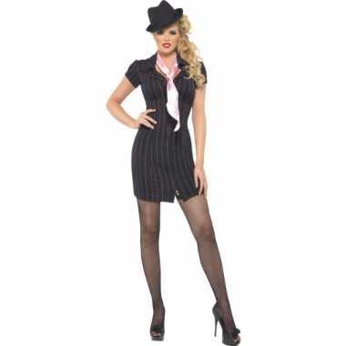 Carnaval  Zwarte gangster kostuum jurken