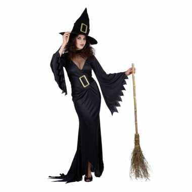 Carnaval  Zwarte lange heksen kostuum jurken