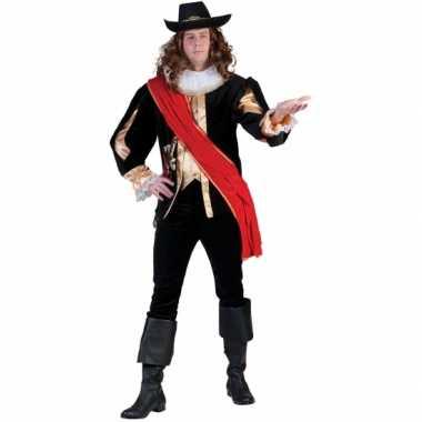 Carnavals musketierskostuum mannen