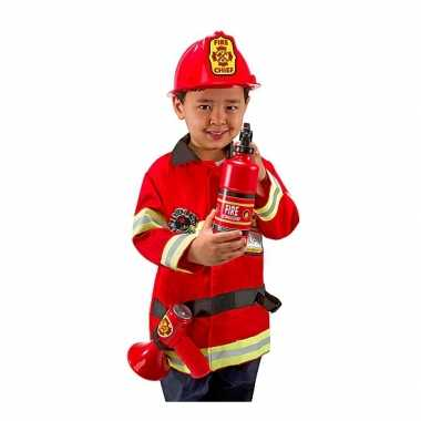 Carnavalskleding brandweer kids kostuum