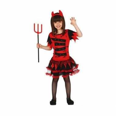 Carnavalskleding duivel meisjes kostuum