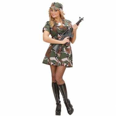 Carnavalskleding leger kostuum jurkje