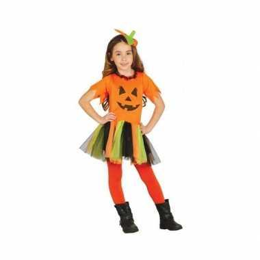 Carnavalskleding oranje pompoen kostuum jurkje meisjes