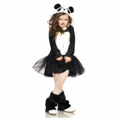 Carnavalskleding panda kostuum jurkje meisjes