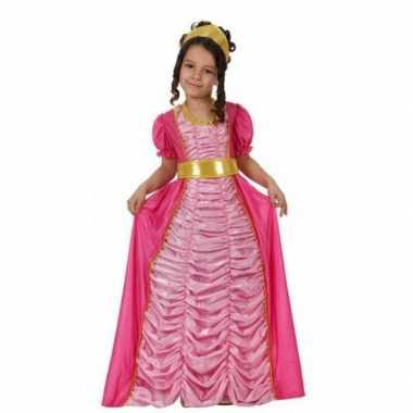 Carnavalskleding prinses roze meisjes kostuum