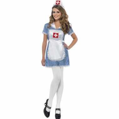Carnavalskleding verkleegster dames kostuum