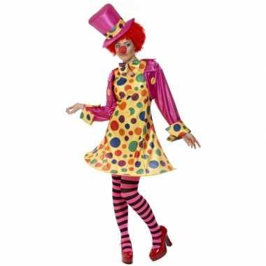 Dames clowns carnaval kleding kostuum