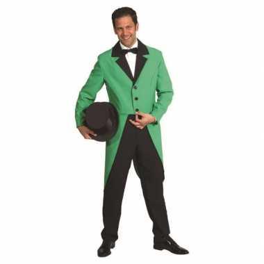 Groene carnaval kleding slipjas kostuum