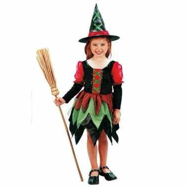 Heksen carnaval kleding meisje kostuum