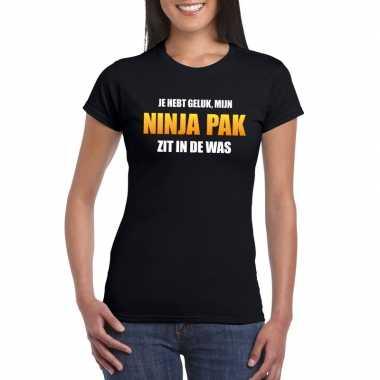 Ninja kostuum zit was dames carnaval t kostuum zwart