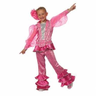 Roze disco carnaval kleding kids kostuum
