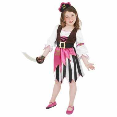 Roze piraten carnaval kleding kostuum