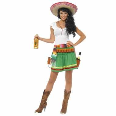 Tequila carnaval kleding dames kostuum