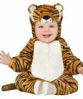 Carnaval dierenkostuum tijger verkleed kostuum peuters maanden