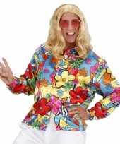 Carnaval fel gekleurd hippie kostuum