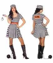 Carnaval gevangene boef bonnie verkleed kostuum jurk dames