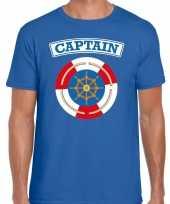 Carnaval kapitein captain verkleed t kostuum blauw heren