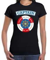 Carnaval kapitein captain verkleed t kostuum zwart dames