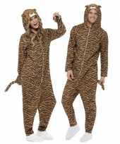 Carnaval kostuum tijger all one volwassenen