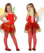 Carnaval meisjes vlinder kostuum rood