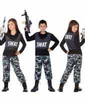 Carnaval politie swat verkleed kostuum kinderen