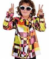 Carnaval retro kinder hemd gekleurd kostuum