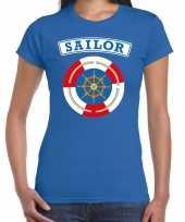 Carnaval zeeman sailor verkleed t kostuum blauw dames