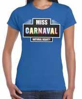 Miss carnaval verkleed t kostuum blauw dames