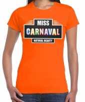 Miss carnaval verkleed t kostuum oranje dames